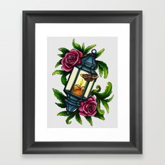 A Moth to the Flame Framed Art Print