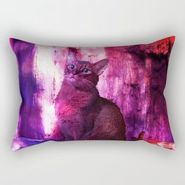 The Sunkissed Abyssinan Cat from Planet Kitarus Rectangular Pillow