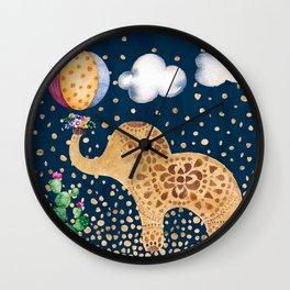 Elephant Play Wall Clock