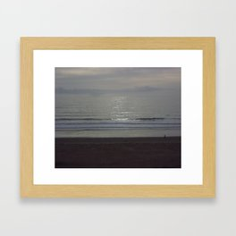 """Lonely Walk On the Beach"" Framed Art Print"