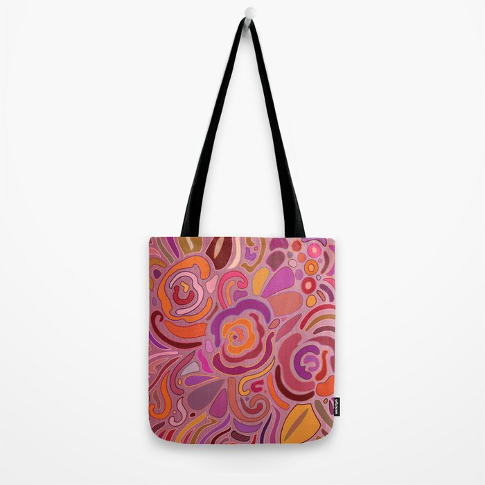 Rose fragments, pink, purple and orange Tote Bag