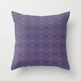 Heather Stem - Purple Throw Pillow