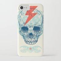 surf iPhone & iPod Cases featuring Skull Bolt by Rachel Caldwell