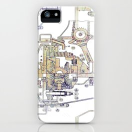 Mechanical Diagram iPhone Case
