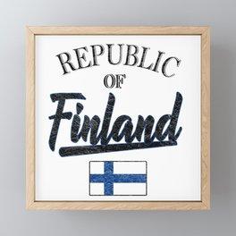 Republic Of Finland Framed Mini Art Print