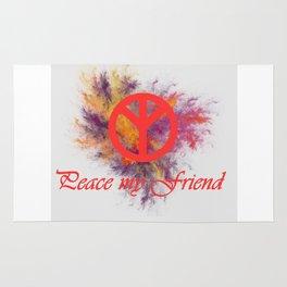 peace my friend Rug