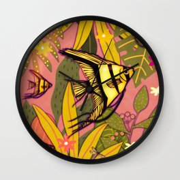 Angel Fish #3 Wall Clock