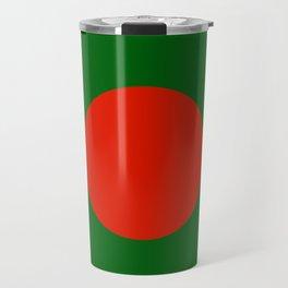 Bangladeshi Flag in green and red colors Travel Mug