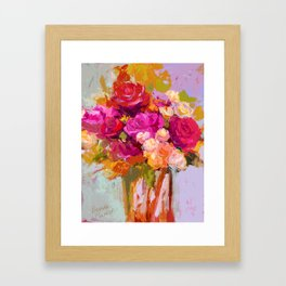 Bloom Fresh, Birthday Roses Framed Art Print