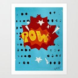 Pow Printwork Art Print