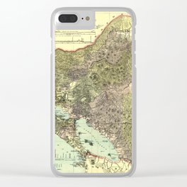 Map Of Nicaragua 1894 Clear iPhone Case