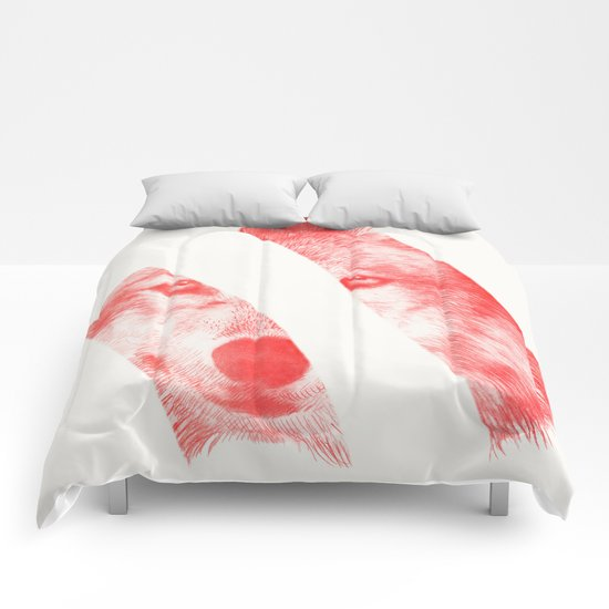 Red - by Eric Fan and Garima Dhawan  Comforters