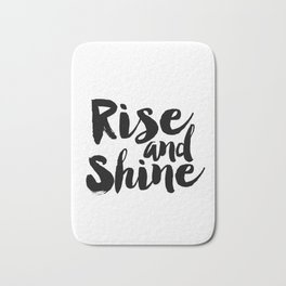 Bedroom Decor Rise And Grind Rise And Shine Inspirational Wall Art Printable Art Motivational Poster Bath Mat