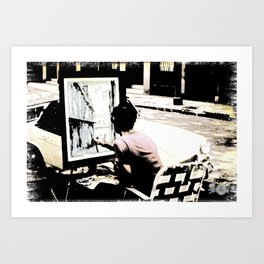 Street Painter - June 1969 Art Print