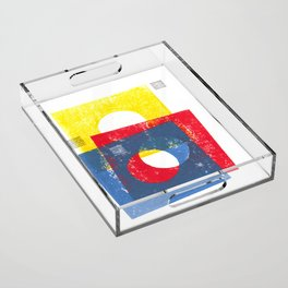 Basic in red, yellow and blue Acrylic Tray