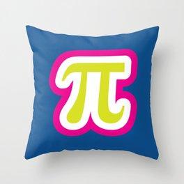 Funky Pi Throw Pillow