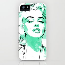 Mint Marilyn iPhone Case