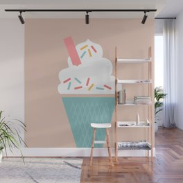 Ice Cream (Peach) Wall Mural