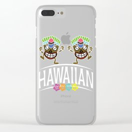 Designed for trendy, fun loving people who love Hawaiian art and love go out on a beach Tee HAWAIIAN Clear iPhone Case