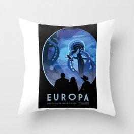 Europa - NASA Space Travel Poster Throw Pillow