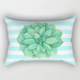 Aeonium Succulent Green with Yellow Rectangular Pillow