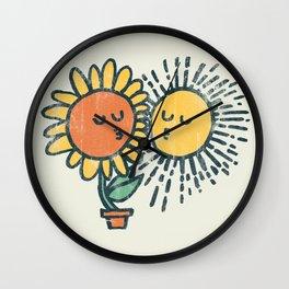 Sun Kissed sunflower Wall Clock