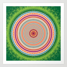 Fraternity Mandala - מנדלה אחווה Art Print
