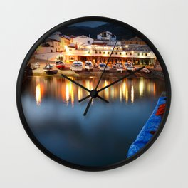 Colorful harbour Wall Clock