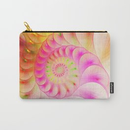 Abstract bright colorful snail background. Carry-All Pouch