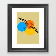 sunset aviary Framed Art Print