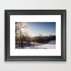 Frozen Countryside Framed Art Print