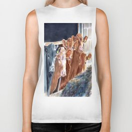 Calves at Brunch Biker Tank