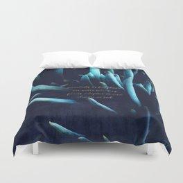 SUCCULENTS in Dark Blue Duvet Cover