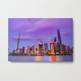 Shanghai - World Big City Metal Print