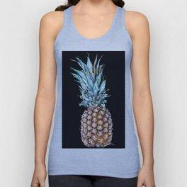 Pineapple On A Black Background #decor #society6 Unisex Tank Top