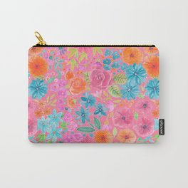 Floral watercolor pattern in pink Carry-All Pouch
