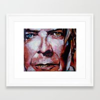 david bowie Framed Art Prints featuring Bowie by Ray Stephenson