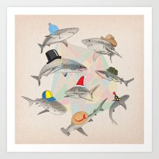 Hats On Art Print