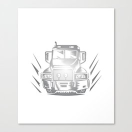 Some Smoke Weed I Hit Throttle Trucking T-Shirt Canvas Print
