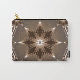 Morning Star Circle (Brown) Carry-All Pouch