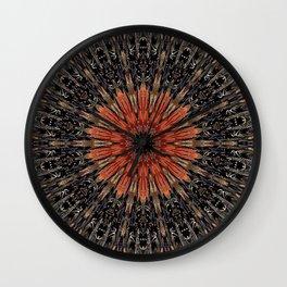 Tulip Hydrant Mandala Wall Clock