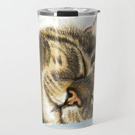 Sleeping Tabby Cat Travel Mug