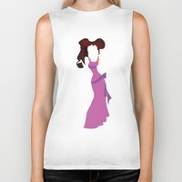 hercules Biker Tanks featuring Megara from Hercules Disney Princess by Alice Wieckowska