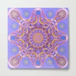 Royal Seal Mandala Metal Print