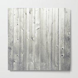 Black & White Wood Texture Metal Print