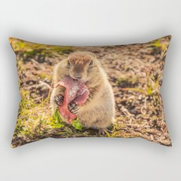 Good food makes good mood Rectangular Pillow