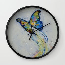 Opal Butterfly Wall Clock