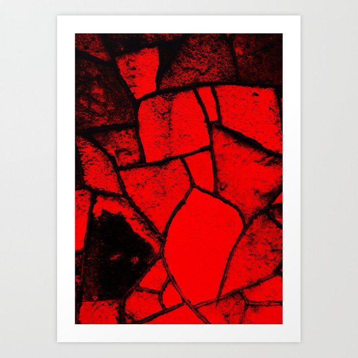 """Red Wall"" Art Print"