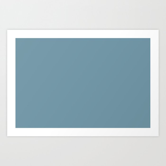 Dunn and Edwards 2019 Curated Colors Smoky Blue (Muted Pastel Blue) DET570 Solid Color Kunstdrucke
