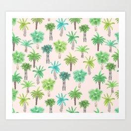 Watercolor Palm Trees Art Print